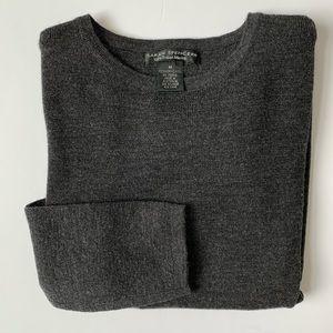 Sarah Spencer Gray Merona Wool Long Sleeve Sweater